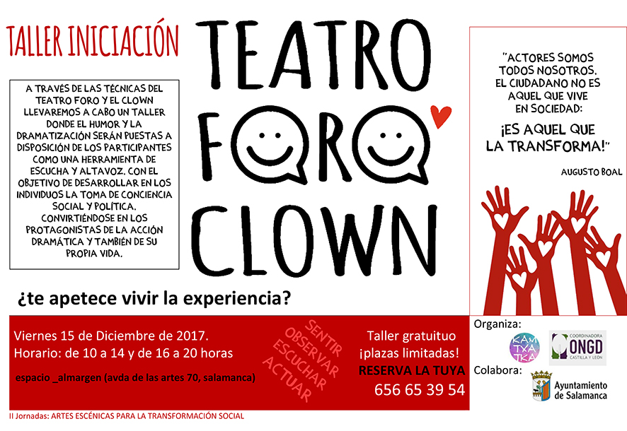 TALLERES Teatroforoclown SALAMANCAp